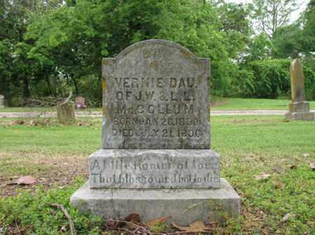 MCCOLLUM, VERNIE - Jackson County, Arkansas | VERNIE MCCOLLUM - Arkansas Gravestone Photos