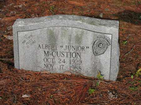 "MCCUSTION, ALBERT ""JUNIOR"" - Jackson County, Arkansas 