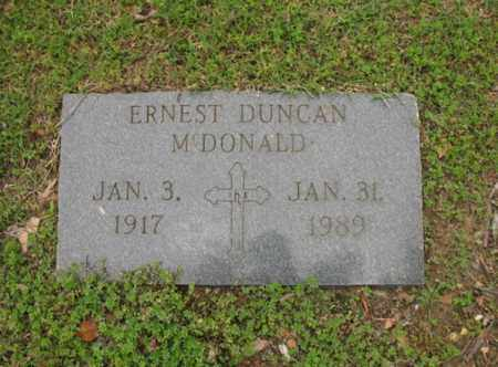 MCDONALD, ERNEST DUNCAN - Jackson County, Arkansas | ERNEST DUNCAN MCDONALD - Arkansas Gravestone Photos