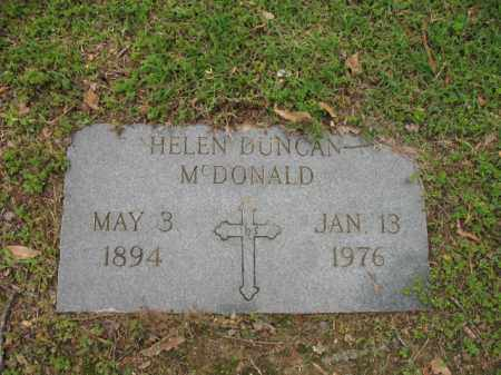 DUNCAN MCDONALD, HELEN - Jackson County, Arkansas | HELEN DUNCAN MCDONALD - Arkansas Gravestone Photos