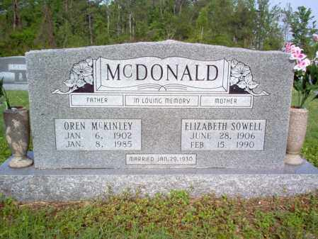 MCDONALD, OREN MCKINLEY - Jackson County, Arkansas | OREN MCKINLEY MCDONALD - Arkansas Gravestone Photos