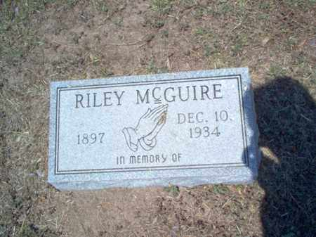 MCGUIRE, RILEY - Jackson County, Arkansas | RILEY MCGUIRE - Arkansas Gravestone Photos