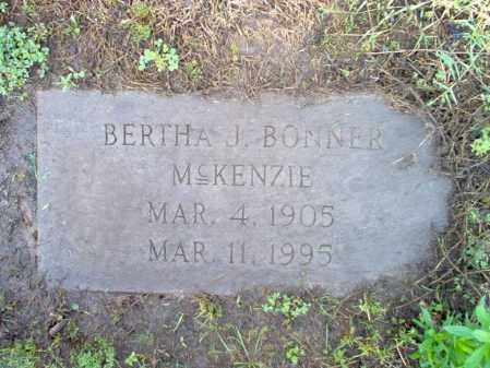 BONNER MCKENZIE, BERTHA J - Jackson County, Arkansas | BERTHA J BONNER MCKENZIE - Arkansas Gravestone Photos