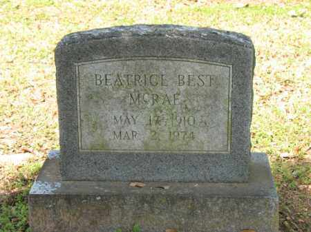 BEST MCRAE, BEATRICE - Jackson County, Arkansas | BEATRICE BEST MCRAE - Arkansas Gravestone Photos