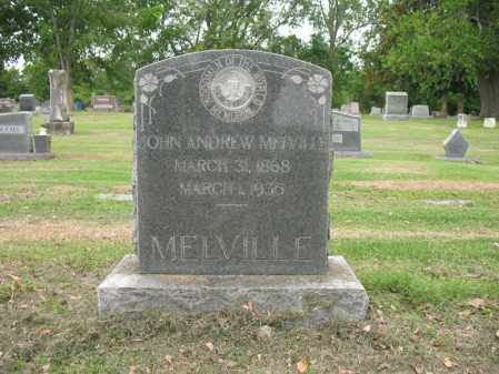MELVILLE, JOHN ANDREW - Jackson County, Arkansas | JOHN ANDREW MELVILLE - Arkansas Gravestone Photos