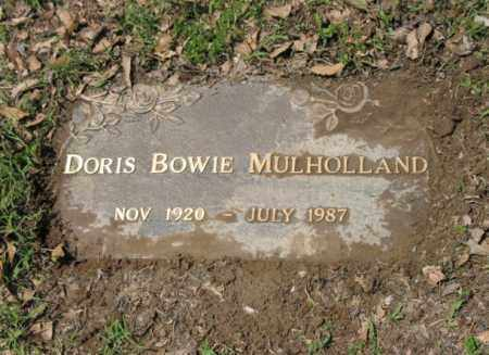 BOWIE MULHOLLAND, DORIS - Jackson County, Arkansas | DORIS BOWIE MULHOLLAND - Arkansas Gravestone Photos