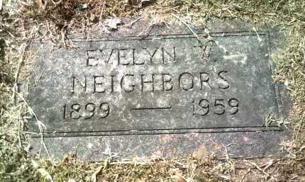 NEIGHBORS, EVELYN W - Jackson County, Arkansas | EVELYN W NEIGHBORS - Arkansas Gravestone Photos