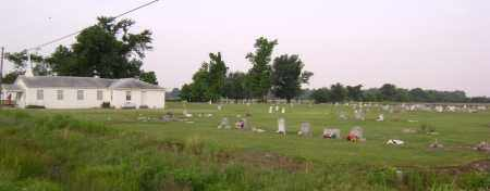 *OVERVIEW AND CHURCH,  - Jackson County, Arkansas |  *OVERVIEW AND CHURCH - Arkansas Gravestone Photos
