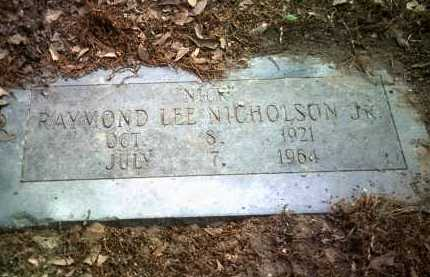 "NICHOLSON, JR, RAYMOND LEE  ""NICK"" - Jackson County, Arkansas 