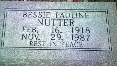 NUTTER, BESSIE PAULINE - Jackson County, Arkansas | BESSIE PAULINE NUTTER - Arkansas Gravestone Photos