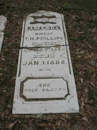 PHILLIPS, AMANDA - Jackson County, Arkansas | AMANDA PHILLIPS - Arkansas Gravestone Photos