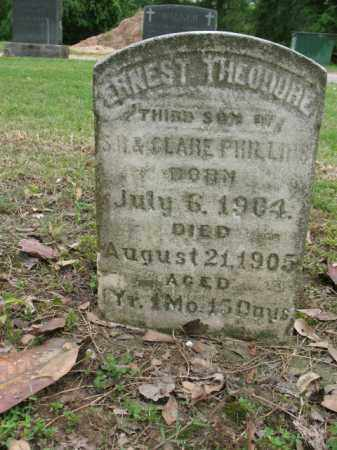 PHILLIPS, ERNEST THEODORE - Jackson County, Arkansas | ERNEST THEODORE PHILLIPS - Arkansas Gravestone Photos