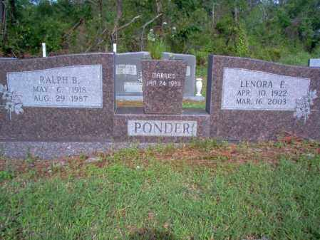 PONDER, RALPH B - Jackson County, Arkansas | RALPH B PONDER - Arkansas Gravestone Photos
