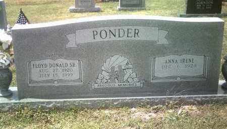 PONDER, SR, FLOYD DONALD - Jackson County, Arkansas | FLOYD DONALD PONDER, SR - Arkansas Gravestone Photos