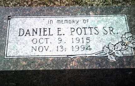POTTS, SR, DANIEL E - Jackson County, Arkansas | DANIEL E POTTS, SR - Arkansas Gravestone Photos