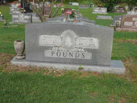 POUNDS, DENNIS E - Jackson County, Arkansas | DENNIS E POUNDS - Arkansas Gravestone Photos