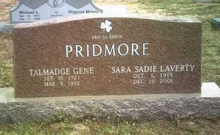 LAVERTY PRIDMORE, SARA SADIE - Jackson County, Arkansas | SARA SADIE LAVERTY PRIDMORE - Arkansas Gravestone Photos