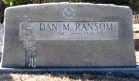 RANSOM, DAN M - Jackson County, Arkansas | DAN M RANSOM - Arkansas Gravestone Photos