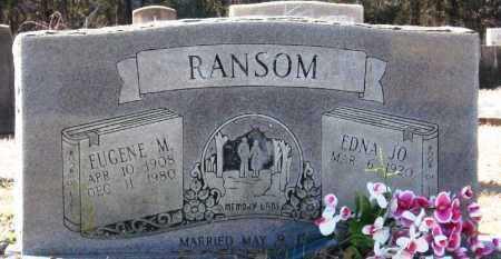 RANSOM, EUGENE M - Jackson County, Arkansas | EUGENE M RANSOM - Arkansas Gravestone Photos