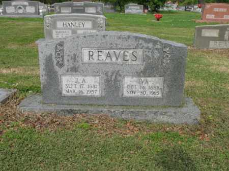 REAVES, J A - Jackson County, Arkansas | J A REAVES - Arkansas Gravestone Photos