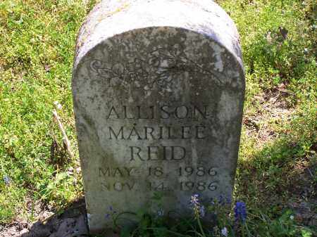 REID, ALLISON MARILEE - Jackson County, Arkansas | ALLISON MARILEE REID - Arkansas Gravestone Photos