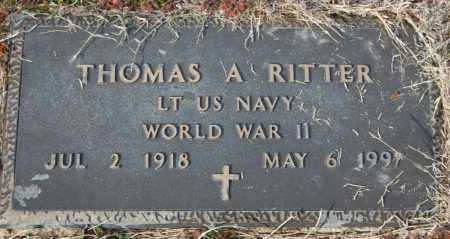 RITTER (VETERAN WWII), THOMAS A - Jackson County, Arkansas | THOMAS A RITTER (VETERAN WWII) - Arkansas Gravestone Photos