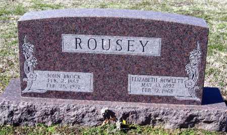 ROWLETT ROUSEY, ELIZABETH - Jackson County, Arkansas | ELIZABETH ROWLETT ROUSEY - Arkansas Gravestone Photos