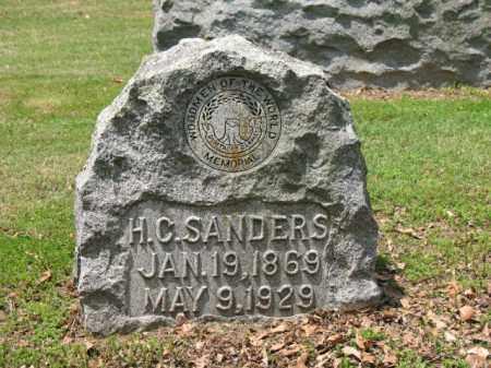 SANDERS, H C - Jackson County, Arkansas | H C SANDERS - Arkansas Gravestone Photos