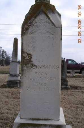SIMMONS, BENJAMIN FLETCHER - Jackson County, Arkansas | BENJAMIN FLETCHER SIMMONS - Arkansas Gravestone Photos