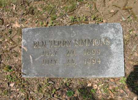 SIMMONS, BEN TERRY - Jackson County, Arkansas | BEN TERRY SIMMONS - Arkansas Gravestone Photos