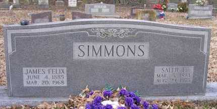 SIMMONS, JAMES FELIX - Jackson County, Arkansas | JAMES FELIX SIMMONS - Arkansas Gravestone Photos