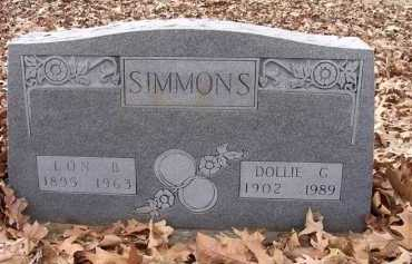 SIMMONS, DOLLIE GERTRUDE - Jackson County, Arkansas | DOLLIE GERTRUDE SIMMONS - Arkansas Gravestone Photos