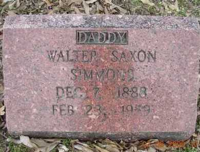 SIMMONS (VETERAN WWI), WALTER SAXON - Jackson County, Arkansas | WALTER SAXON SIMMONS (VETERAN WWI) - Arkansas Gravestone Photos