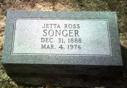 ROSS SONGER, JETTA - Jackson County, Arkansas | JETTA ROSS SONGER - Arkansas Gravestone Photos