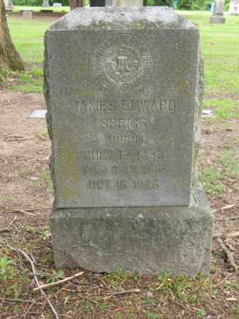 SPRIGG, JAMES EDWARD - Jackson County, Arkansas   JAMES EDWARD SPRIGG - Arkansas Gravestone Photos