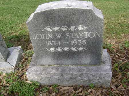 STAYTON, JOHN W - Jackson County, Arkansas | JOHN W STAYTON - Arkansas Gravestone Photos