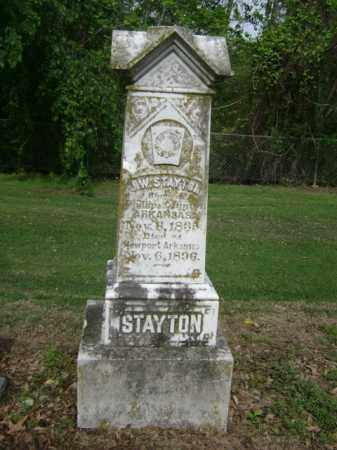 STAYTON, J W - Jackson County, Arkansas | J W STAYTON - Arkansas Gravestone Photos