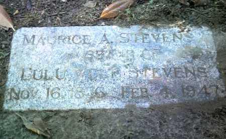 STEVENS, MAURICE A - Jackson County, Arkansas | MAURICE A STEVENS - Arkansas Gravestone Photos