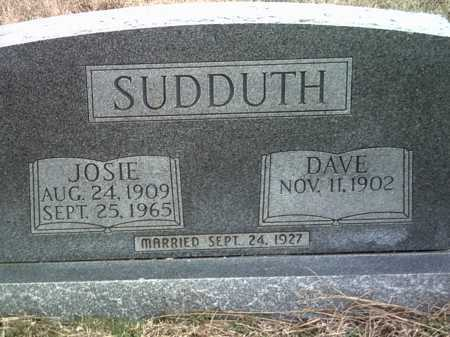 "SUDDUTH, JOSEPHINE ""JOSIE"" - Jackson County, Arkansas 