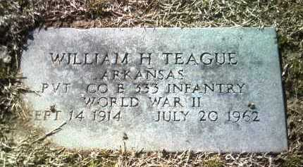 TEAGUE (VETERAN WWII), WILLIAM H - Jackson County, Arkansas | WILLIAM H TEAGUE (VETERAN WWII) - Arkansas Gravestone Photos