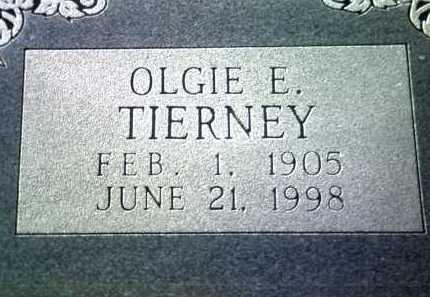 TIERNEY, OLGIE E. - Jackson County, Arkansas | OLGIE E. TIERNEY - Arkansas Gravestone Photos