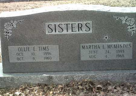 MCMINDES, MARTHA L - Jackson County, Arkansas | MARTHA L MCMINDES - Arkansas Gravestone Photos