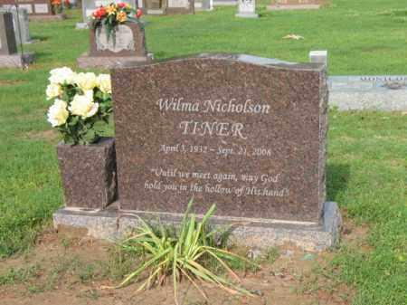 NICHOLSON TINER, WILMA - Jackson County, Arkansas | WILMA NICHOLSON TINER - Arkansas Gravestone Photos