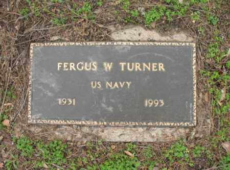 TURNER, JR (VETERAN), FERGUS W - Jackson County, Arkansas | FERGUS W TURNER, JR (VETERAN) - Arkansas Gravestone Photos