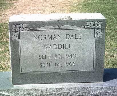 WADDILL, NORMAN DALE - Jackson County, Arkansas | NORMAN DALE WADDILL - Arkansas Gravestone Photos