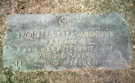 WADDILL (VETERAN WWII), NORMAN F - Jackson County, Arkansas | NORMAN F WADDILL (VETERAN WWII) - Arkansas Gravestone Photos