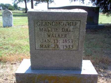 WALKER, MATTIE DALE - Jackson County, Arkansas | MATTIE DALE WALKER - Arkansas Gravestone Photos