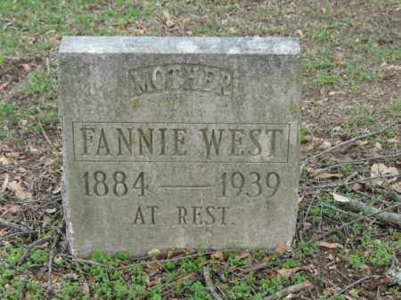 WEST, FANNIE - Jackson County, Arkansas | FANNIE WEST - Arkansas Gravestone Photos