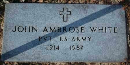 WHITE (VETERAN), JOHN AMBROSE - Jackson County, Arkansas | JOHN AMBROSE WHITE (VETERAN) - Arkansas Gravestone Photos
