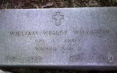 WHYBREW (VETERAN WWII), WILLIAM WESLEY - Jackson County, Arkansas | WILLIAM WESLEY WHYBREW (VETERAN WWII) - Arkansas Gravestone Photos